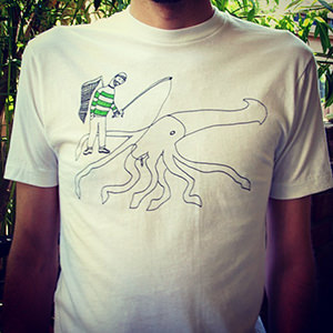 ox on the roof_giant squid shirt 300