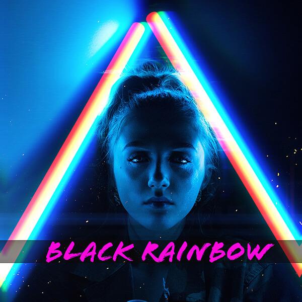 Black Rainbow NY Logo 600 Mark Gertz Rowynn Dumont New Wave Dance Party JJs Hideaway